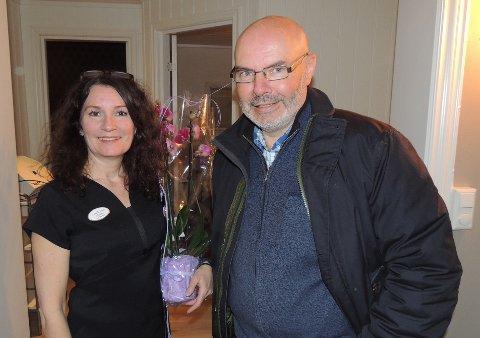 TOTALFORVANDLING: Christin Aakervik kjøpte lokalene av Tore Trollbu.Han kjente seg ikke igjen, da han tok turen til 7 små rom i dag.