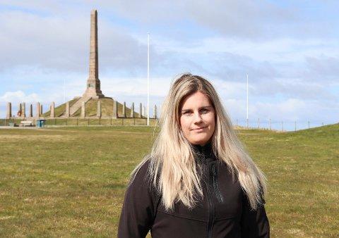 BEGYNNER Å BLI KJENT: Monica Sanden har ikke kastet bort tiden med å gjøre seg kjent i byen, tre uker at hun flyttet til Haugesund.  Nærområdet langs kyststien og Haraldshaugen har hun god kontroll på.