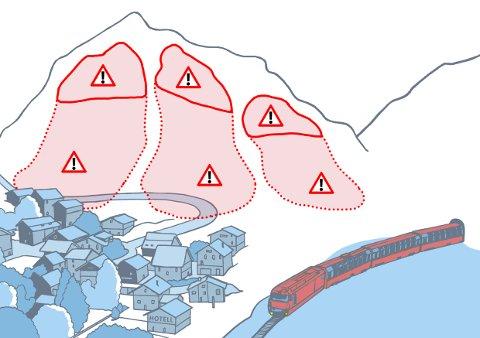 Rødt farenivå: Snøskredvarslinga har økt farenivået for snøskred på Helgeland og Svartisen til rødt. De ber helgelendingene om å unngå terreng brattere enn 30 grader og utløpssoner for skred.