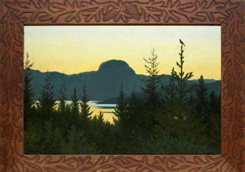 REKORD: Theodor Kittelsen har skapt både kunstverket og rammen.