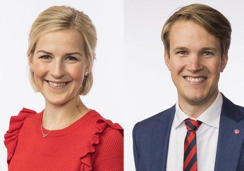 Elise Bjørnebekk-Waagen og Torstein Tvedt Solberg, Stortingsrepresentanter Ap
