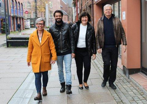 ENIGE: - Vi mener at  togparkeringen bør legges til Vestby, sier (f.v.) Hanne Tollerud, Shakeel Rehman, Inger-Lise Skartlien og Hans Jørn Rønningen i nye Moss Ap.