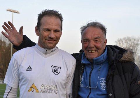 Rutine: Svein Gåsbakk er Tronvik-trener Terje Andresens «grand old man» med sine snart 50 år. Begge foto: Petter Andresen