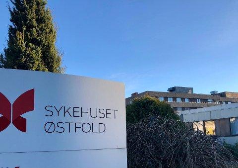 TRUET PÅ JOBB: Det var ved en avdeling på Sykehuset Østfold Moss en kvinne og hennes kolleger ble truet på livet av en mannlig pasient.