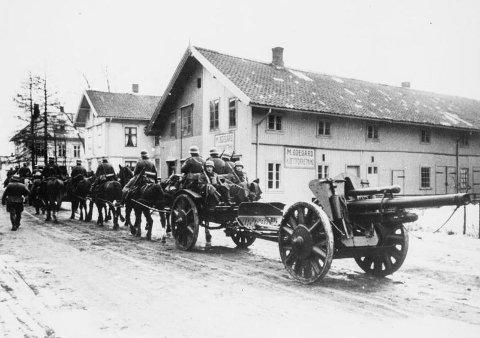 Da tyskerne invaderte Norge hadde ikke landet et forsvar, men et nøytralitetsvern. Her ved Lillestrøm.