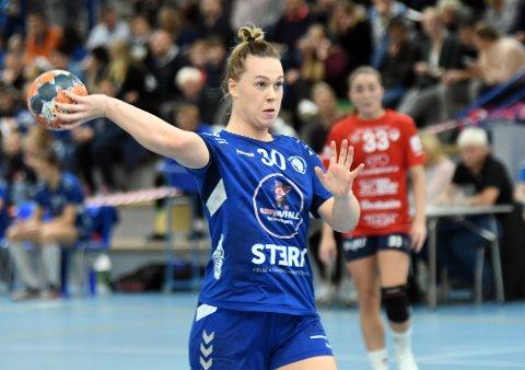 BRA UTTELLING: Frida Nåmo Rønning banket inn åtte mål på ni skudd, men det holdt ikke mot Byåsen. Hun ble også kåret til Oppsals beste spiller.