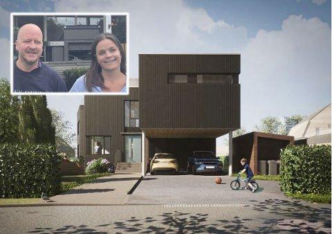Om de nye tegningene går gjennom i kommunen, blir dette drømmehuset til Aanes og Flakstad Ihle