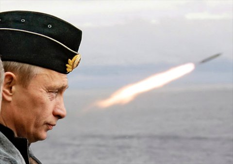 Russian President Vladimir Putin watches the launch of a missile during naval exercises in Russia's Arctic North on board the nuclear missile cruiser Pyotr Veliky (Peter the Great) in this August 17, 2005 file photo. Putin will mark his 60th birthday on October 7, 2012. REUTERS/ITAR-TASS/Presidential Press Service/Files (RUSSIA  - Tags: POLITICS MILITARY ANNIVERSARY) THIS IMAGE HAS BEEN SUPPLIED BY A THIRD PARTY. IT IS DISTRIBUTED, EXACTLY AS RECEIVED BY REUTERS, AS A SERVICE TO CLIENTS