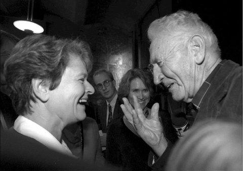 Illustrasjonsbilde: Arbeiderpartiet, representert ved Gro Harlem Brundtland og Haakon Lie. ARKIVBILDE