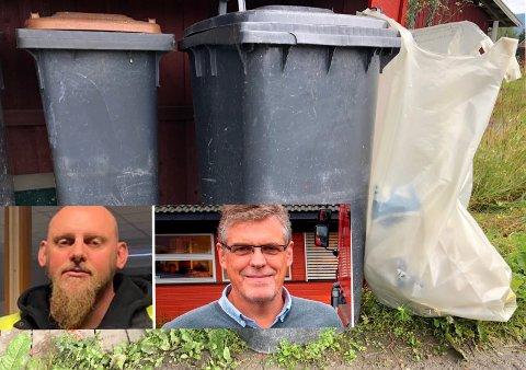 SIER NEI: Verken hovedtillitsvalgt i Horisont, Lars Engen (t.v.), elleradministrerende direktør Stein Giæver ønsker innført et tilbud til husholdningene om levering av ekstra sekker med restavfall.