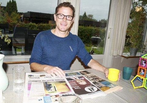 GLAD LEDER: MDG-leder i Oppegård Jens Nordahl våknet opp til kjemperesultater tirsdag morgen. FOTO: KARIN HANSTENSEN