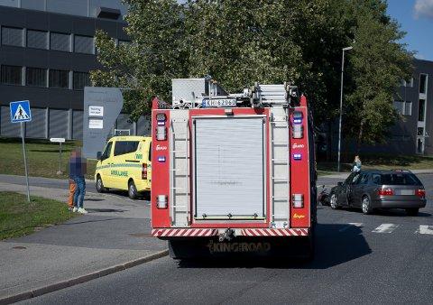 Trafikkulykke ved Drømtorp videregående skole mandag ettermiddag.