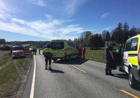 Bilfører siktet: En mann i 70-årene omkom i trafikkulykken på Halle lørdag.