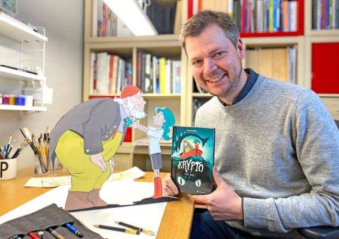 NOMINERT TIL PRIS: Hans Jørgen Sandnes med tegneserieboka Krypto.