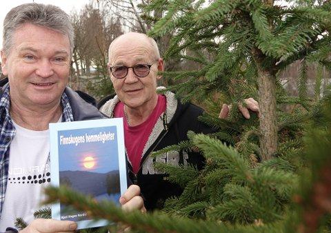 FINNSKOG OG MYSTIKK: Kjell Magne Nordvi, til venstre, har skrevet boka du ikke legger fra deg før du har lest den ferdig. – Den går rett hjem hos folk. Den har fått en rivstart fra dag en, sier forlegger Terje Tønnessen.
