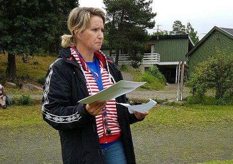 Monica Louise Olsen leder fotballskolen på Teie.