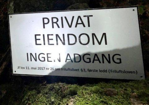 En Øyene-tipser reagerer på dette nye skiltet.