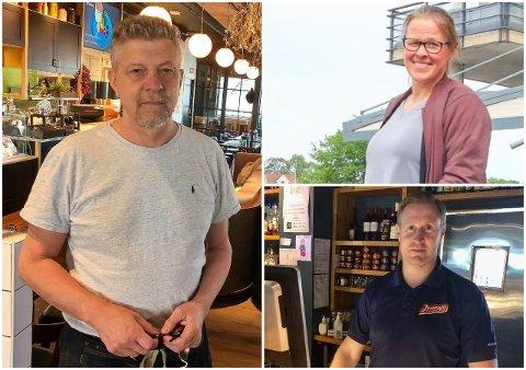KJENTE FJES: Osebro- og Øya-eier Robert Lind, daglig leder på Jonas B. Gundersen, Jorunn Isaksen og Daniel Christensen på Jimmys.