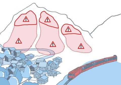Snøskredvarslinga har økt farenivået for snøskred på Helgeland og Svartisen til rødt. De ber helgelendingene om å unngå terreng brattere enn 30 grader og utløpssoner for skred. Foto: Varsom.no