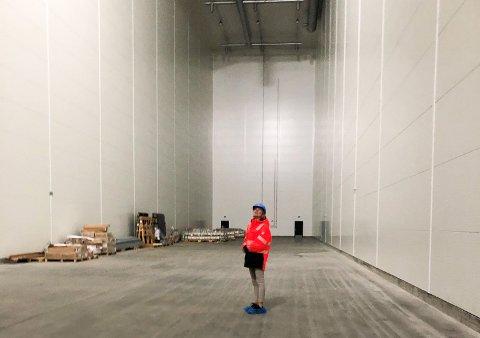 Riksarkivar Inga Bolstad ser fram til å etablere Arkivverket i Mo i Rana. Hallene begynner å bli ferdige og innflytting er rundt nyttårsskiftet.