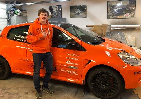 SESONGDEBUT: Jacob Lyseng kjører sitt første rallyi 2019 under Sigdalsrally i helgen.
