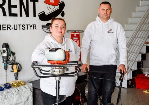 HARD JOBBING: Ibadet og Burim Krasniqi har stått på så å si døgnet rundt for å etablere firmaet Ringrent.