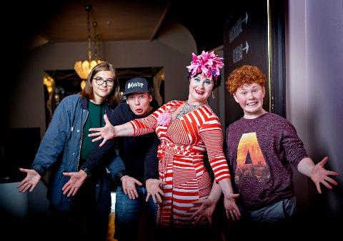 TVNorge lanserer sin nye serie «Koht og kidsa» i kveld. Blant dem som er med er Snorre Monsson fra Kløfta (til høyre i bildet). De to andre ungdommene på bildet er Simen Fagerli Pedersen og Oksana Godlewsk.