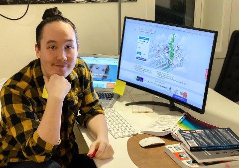 JOBBTILBUD: Huringen Alexander Sæthre er på sitt fjerde av seks semester i et batchelorstudie, og har allerede fått jobb.