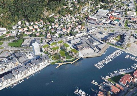 Slik ser Arcasa Arkitekter AS for seg neste skritt i Kilen-utbyggingen.