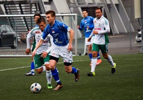 Mateusz Bocianski scoret Spartas mål mot Nordstrand hjemme på Spartabanen lørdag, men det hjalp ikke. Gjestene vant 3-1. (Foto: Kjetil A. Berg)