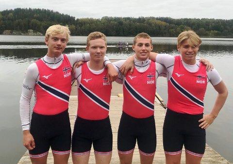 GOD: Marius Antonsen Thime (fra venstre), Simen Olsen, Håkon Grønberg Møller og Simen Solbakken Thømt leverte en god innsats i Baltic Cup.