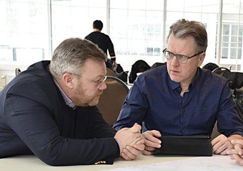 Samarbeider: Thor Hals (H) og Erik Unaas (H) blir snart innbyggere i samme kommune.