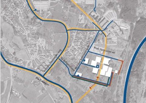Den planlagte nye atkomstveien til sykehuset mellom Kristine Bonnevies vei og Richard Johnsens gate har møtt mye motstand blant naboer.