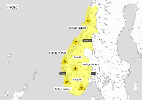 FAREVARSEL: Meteorologene har sendt ut farevarsel for Telemark. Rådet er å sikre løse gjenstander.