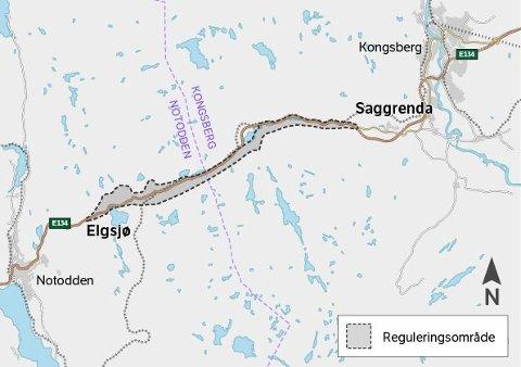 DETALJPLAN: Det settes hastestempel på detaljplanen for Elgsjø - Saggrenda. Anleggstart kan skje allerede i 2022.
