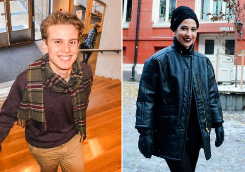 NOMINERTE: Jacob Semb Aasmundsen og Nora Mehsen er nominerte til Skamløsprisen.