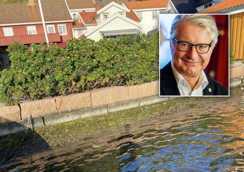 VIL BYGGE HØYERE: Tidligere ordfører i Oslo kommune, Fabian Stang, ønsker å bygge muren på hytta høyere.