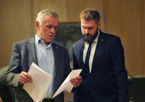 ENIGE OG UENIGE: Både Arild Nikolai Ødegaard (Sp) og Stian Olafsen (Ap) er enige om å bevare Reinsvoll sykehus, men uenige om storsykehus. ARKIV