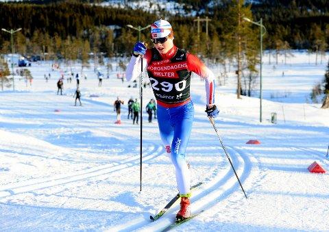 I TOPPEN: Vegard Aarstad gikk et kjempeløp da han presterte karrierebete og ble nummer åtte på Lygna.