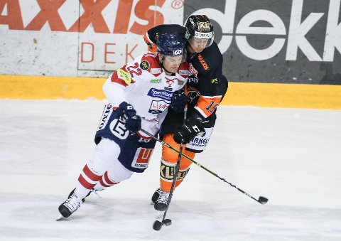 JEVNT: Det ble et jevnt oppgjør Frisk Asker mot Lillehammer tirsdag kveld.