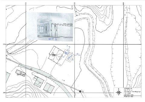 Vinterstuen og bassenget er tenkt bygget like ved huset på Akland. Foto fra søknadspapirene