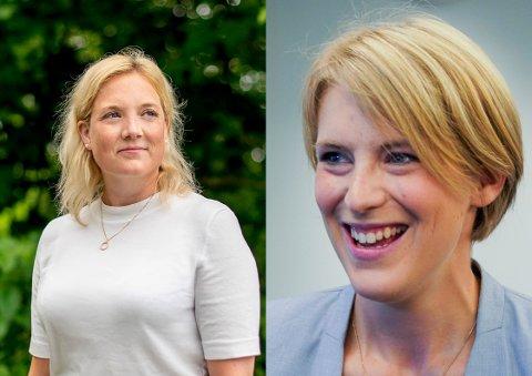 Leder av Oslo kommunes helse- og sosialutvalg, Aina Stenersen (FrP) og stortingsrepresentant for Oslo SV, Kari Elisabeth Kaski.