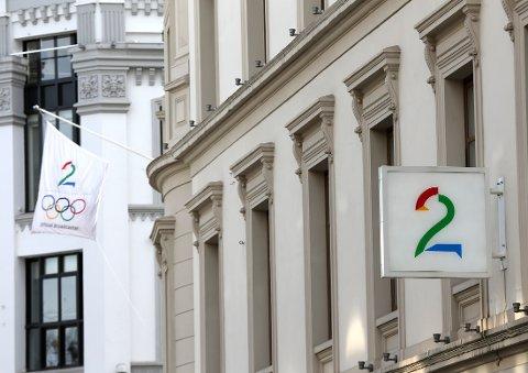Oslo  20160321. Logo Tv2 Karl Johan i Oslo Foto: Vidar Ruud / NTB scanpix