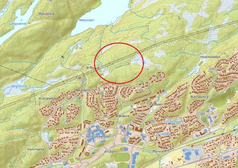 Skjermdump: Norgeskart