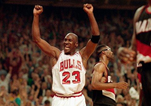 Michael Jordan førte Chicago Bulls til seks titler fra 1991 til 1998