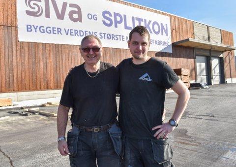 TRIVES PÅ JOBB: Jan Tormod Snippen (70) og Helge Andre Høgmoen Solbakken (29) forteller om lite gjennomtrekk og en ledelse som bryr seg.