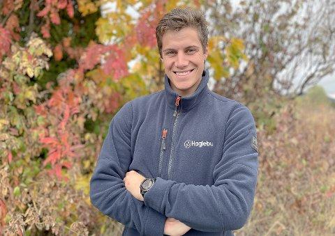 TURISTVERT: Arvid Nelson startet 6. september i jobben som turistvert, og ilddåpen får han under høstmarkedet på Haglebu i høstferien.