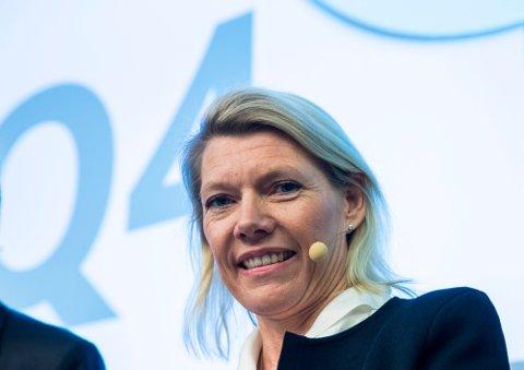 KAN LE HELE VEIEN TIL STYREROMMET: DNB-sjef Kjerstin Braathen kan vise til gjentakende kvartaler med god inntjening i personmarkedet.