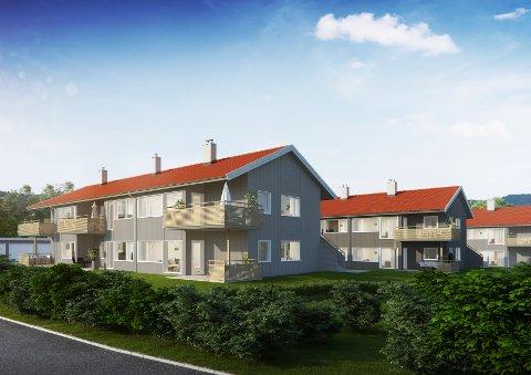 KARLSVANGTUNET: Boligprosjektet består totalt av 20 prosjekterte treroms selveier-leiligheter fordelt over fire bygg