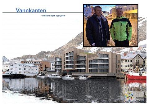 SATSER PÅ NYTT BYGG: Idar Jensen, Stein Arne Granaas (avbildet) og Kai Søderholm har begynt planleggingen med å reise leilighetsbygg i Honningsvåg.
